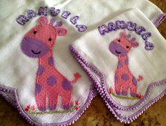 Erva Doce - Patchwork: Jogo de fraldas girafinhas