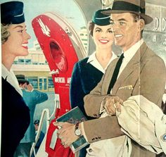 vintage 1958 american airlines advertisement by FrenchFrouFrou