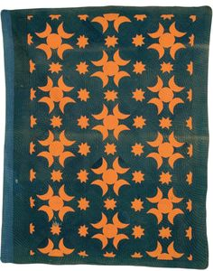 = free pattern = Moon and Stars quilt, 1896, by Harriet Ellen Cox.  Free vintage pattern at McCall's quilting.