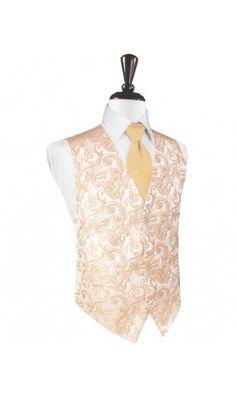 3f4832d041b3 Peach Tapestry Tuxedo Vest Mens Formal Vest, Tuxedo Stores, Peach Tie, Pink  Tuxedo