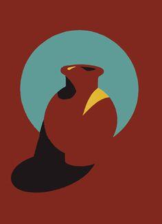 Brown Pot, screen print by Patrick Caulfield