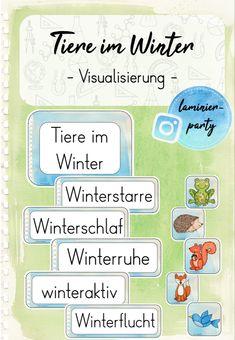 Thema Winter Im Kindergarten, Winter Poster, Home Schooling, Science, Montessori, Bullet Journal, Teacher, Kids, Biology