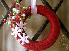 Mandi Being Crafty: Christmas Wreath