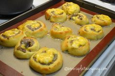 So this is a simple way to use to the stromboli dough in yet another creative way. I absolutely love baking like this! I am so thrilled to be doing it again. I love breakfast saus…