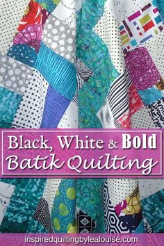 Learn how to make an easy rail fence baby quilt with this free tutorial. This design is quick to sew, and your results will be gorgeous. Diy Quilting Projects, Quilting Tips, Quilt Tutorials, Batik Quilts, Scrappy Quilts, Easy Quilts, Beginner Quilt Patterns, Baby Quilt Patterns, Black And White Quilts