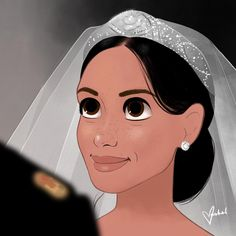 Meghan Markle and Prince Harry are just as adorable in illustrated form. Meghan Markle, Princess Meghan, Prince And Princess, Disney Princess, Princess Diana, Prince Harry Of Wales, Prince Harry And Megan, Royal Family News, British Royal Families