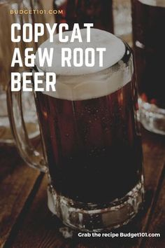 Almost AW Root Beer- How to make your own Copycat Rootbeer at home with minimal effort Alcoholic Root Beer, Non Alcoholic Drinks, Fun Drinks, Drinks Alcohol, Beverages, Cocktails, Cocktail Drinks, Brewing Recipes, Beer Recipes