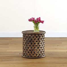 Tribal Carved Wood Accent Table | World Market $149.99