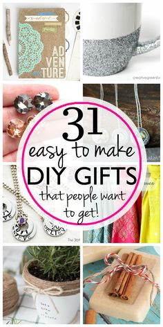 Easy last minute DIY gifts that aren't hard to make and that people actually want!                                                                                                                                                                                 More