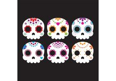 Free vector Decorative Sugar Skull Vectors #34101