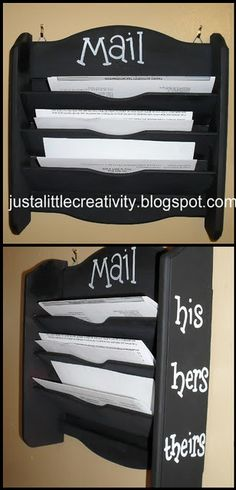 his and hers mail holder. Need one for home