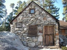 stone work on an old cabin off of Hwy 88