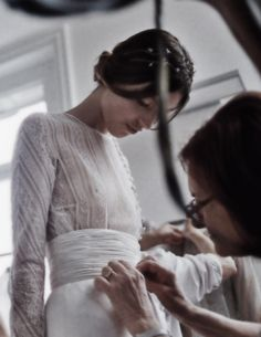 Haute Couture - dress fitting & finishing touches - fashion atelier; fashion design behind the scenes // Valentino
