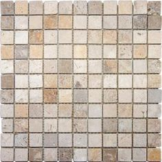 MS International, Mixed 12 in. x 12 in. x 10 mm Tumbled Travertine Mesh-Mounted Mosaic Tile, THDW1-SH-TRM1x1 at The Home Depot - Mobile