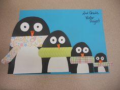 Penguin Size relationship winter lesson