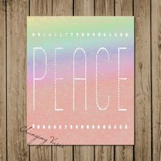 "Changing Vases: Free 8x10 Printable Wall Decor - ""Rainbow Peace"""