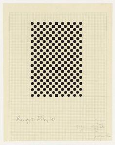Bridget Riley, Untitled (Study for Hidden Squares), 1961