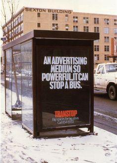 [Pub] Un support publicitaire tellement percutant qu'il fait s'arrêter les bus    An advertising medium so powerful, it can stop a bus. -Transtop #ads #creative #design
