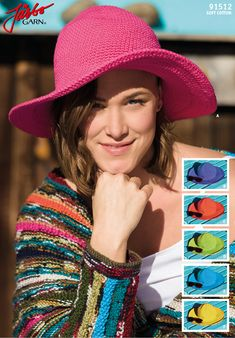 Colourful summer hat.