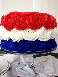 Large swirls of red, white and blue frosting will make sure your holiday dessert 'rose' to the occasion this 4th.