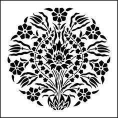 Motif No 2 stencil from The Stencil Library OTTOMAN range. Buy stencils online. Stencil code OTT23.