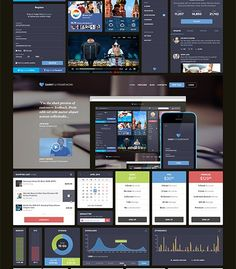 Darky UI Kit is a multi-purpose UI kit that comes with lots of useful UI elements such as graphs, sign-in forms, pricing tables, checkout pages and many more. Design Responsive, Web Ui Design, Dashboard Design, Flat Design, Graphic Design, Ui Kit, Ui Framework, Web Mobile, Ui Components