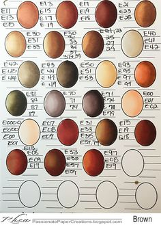 Here Are Some Great Copic Color Combos I Would Like To Share With All Feel Free To Use Them I Am Also Including The Worksheet So