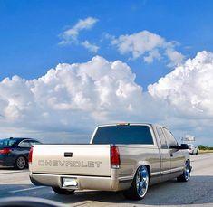 Dropped Trucks, Lowered Trucks, Ford Trucks, Pickup Trucks, 1995 Chevy Silverado, Silverado Truck, C10 Chevy Truck, Obs Truck, Lowrider Trucks