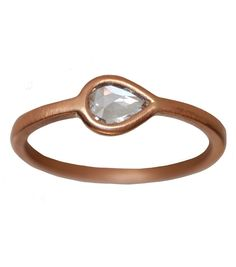 Pink Diamond Teardrop Ring by Conroy& Wilcox. Available at www.catbirdnyc.com.