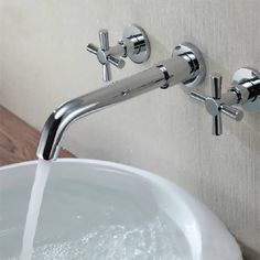 Description : Chrome Brass Modern Wall Mounted 3 Hole Double Handle Sink Bath Basin Faucet Tap Brand new and high quality. User-friendly design, 360 degree swivel spout, Fast and Easy installation. 2 flexible hoses are supplied. Swivel spout – perfect for double bowl sinks Easy and safe to...