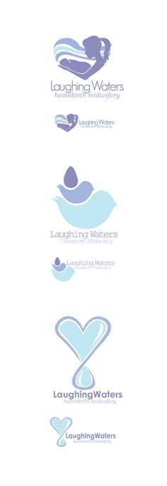Laughing Waters Logo Design by Alix Suckstorf, via Behance