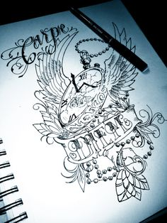 good tattoo quotes 'carpe diem' --- used to urge someone to make the most of the present time and give little thought to the future.