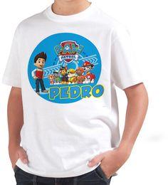 Camiseta Personalizable para Niños Patrulla Canina   Shirtfactory