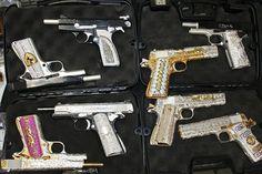 Mexican Drug Cartel's Diamond-Studded Gun Cache