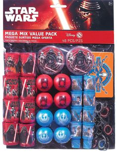 Star Wars Episode 7 Mega Favor Pack 48pc | Wally's Party Factory #starwars #episode7 #partyfavors