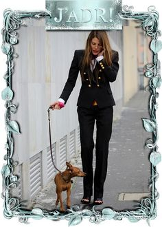 Anna Dello Russo and Cucina. ADR is wearing Dior Homme.