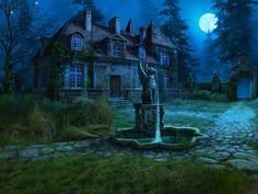 "Manor background and miniscenes for ""Curse at Twilight: Shadowbrook"" game, Olga Antonenko on ArtStation at https://www.artstation.com/artwork/goo4e"