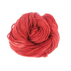 Aran wool yarn red handdyed yarn superwash bfl by SixSkeins