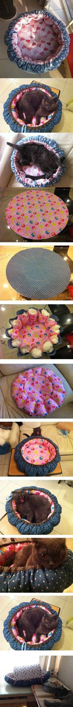 DIY Pumpkin Bed for Cats ~