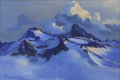 "Fabrice TIXIER ""Le cumulo-nimbus du Pic long"" pastel 27.5 x 41.5 cm"
