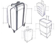 Sketches by josh buller, via behance travel bag design сумки, рюкзак, рисун Sketch Inspiration, Design Inspiration, Drawing Bag, Illustration Mode, Sketches Tutorial, Object Drawing, Industrial Design Sketch, Sketch Design, Bag Design