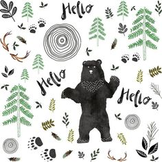 Woodland Bear Fitted Crib Sheet or Changing Pad Cover - Bear Minky Fitted Crib Sheet - Baby Boy Crib Bedding - Bear Toddler Bedding - Bears Woodland Fabric, Woodland Baby, Woodland Nursery, Baby Boy Cribs, Crib Blanket, Bear Blanket, Kona Cotton, Changing Pad, Dinosaurs