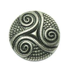 Vous cherchez à 6 morceaux de touches délicates en cordée Celtic Triple spirale Gunmetal. Jambe libre. Elles sont parfaites pour coudre sur les