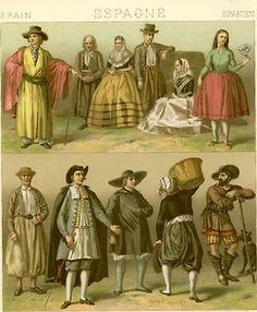 Costumes of 18-19th Century Rural Spain