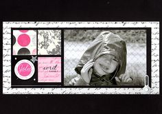 fuchsiascrap / black, pink / scrapbooking, clean and simple