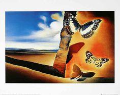 Salvador Dalí - Paysage aux papillons