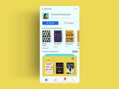 Social Reading App - Profile & Bookshelves Interaction by Ehsan Rahimi  #ui #ux #design #app #interaction #animation #ios #iphonex #principle #motion #books #colorful #prototype #social #interface