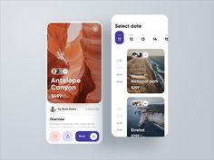 Worldwide Excursions Application by Konstantin Zhuck for Ron Design on Dribbble Ui Design Mobile, App Ui Design, Interface Design, User Interface, Android App Design, Dashboard Design, App Design Inspiration, Daily Inspiration, Application Design