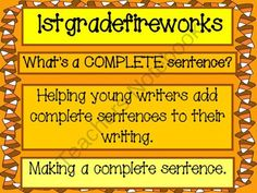 "Whats a Complete Sentence? from 1stgradefireworks on TeachersNotebook.com (14 pages)  - Introduction to complete sentences. Rebus "" fragment"" cards to be put together to make a complete sentence. Pocket chart cards. Student Practice sheets. Grade 1"