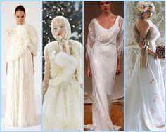 variety of winter wedding dresses